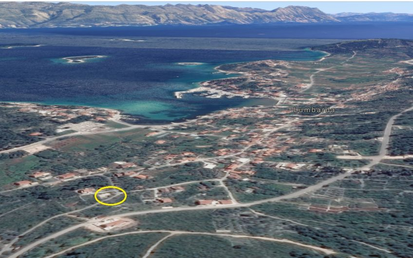 Korčula – Lumbarda, zemljište sa projektom, 468 m2