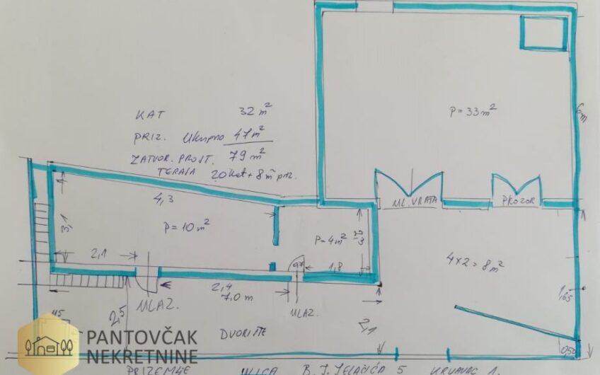 DOLINA NERETVE – KRVAVAC – kuća za renovaciju, 80 m2